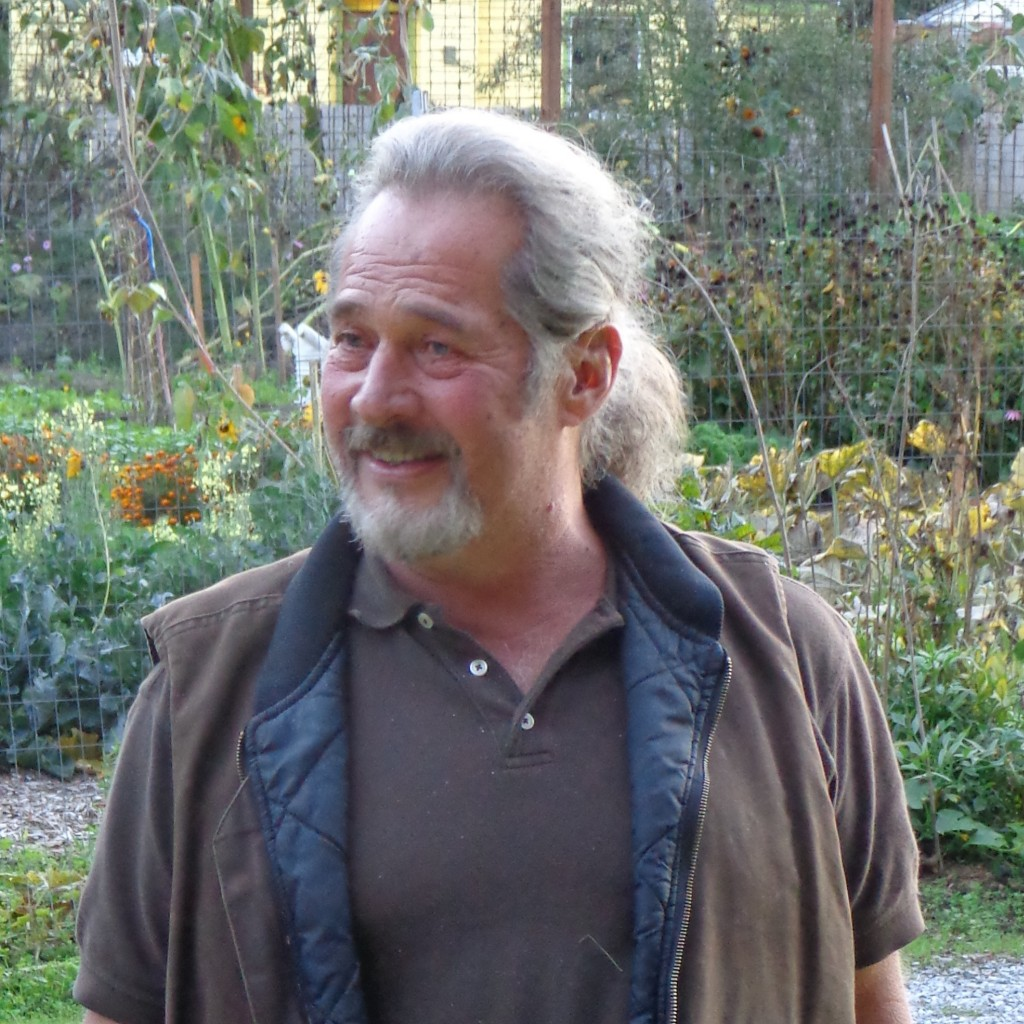 photo: Lyn Loveland Bill Sterling in the gardens at the Chuckanut Center, located on Chuckanut                         Drive at the old rose garden site just north of Fairhaven Park.