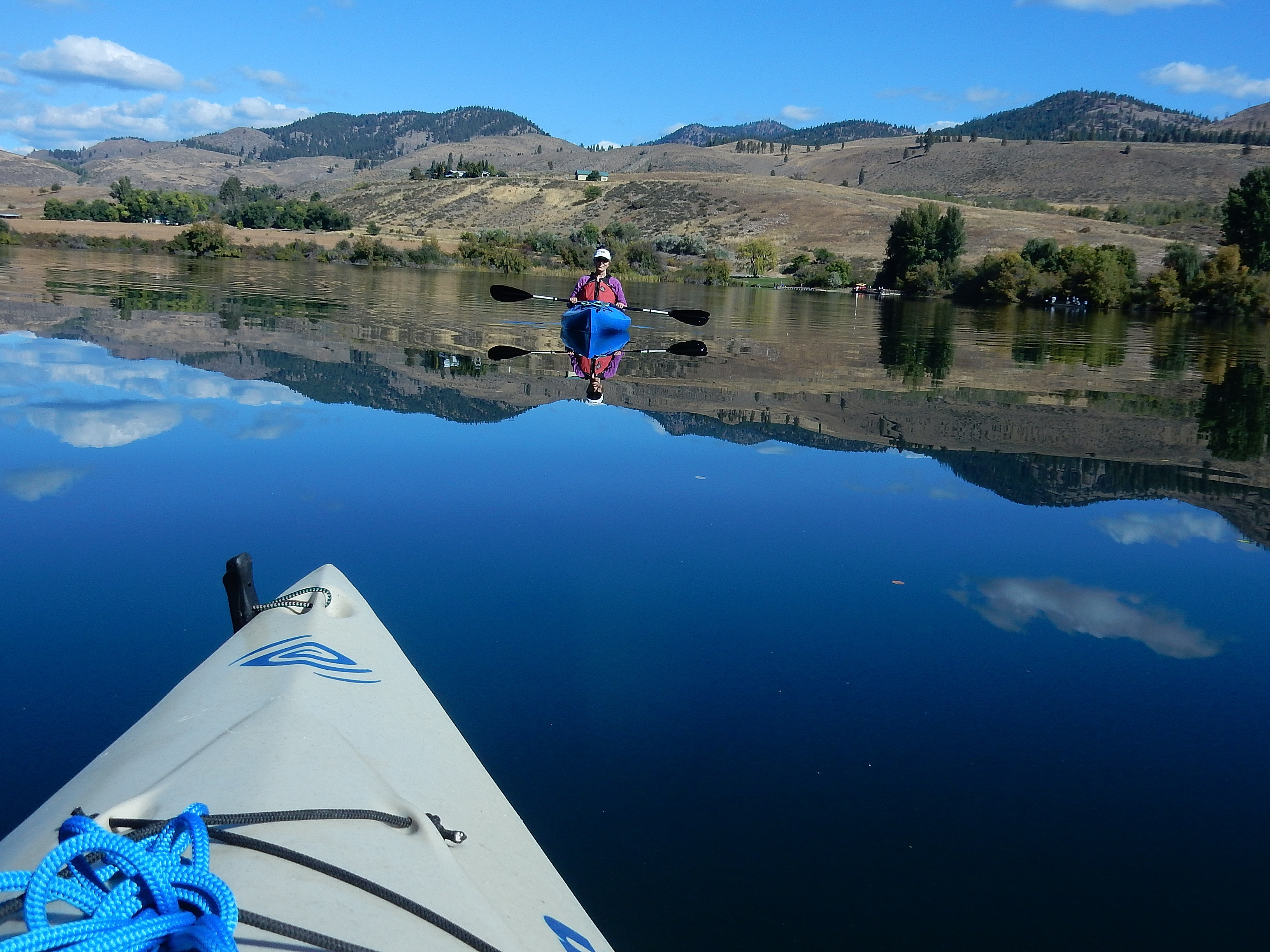 Kayaking on Pearrygin Lake. photo: Joe Meche