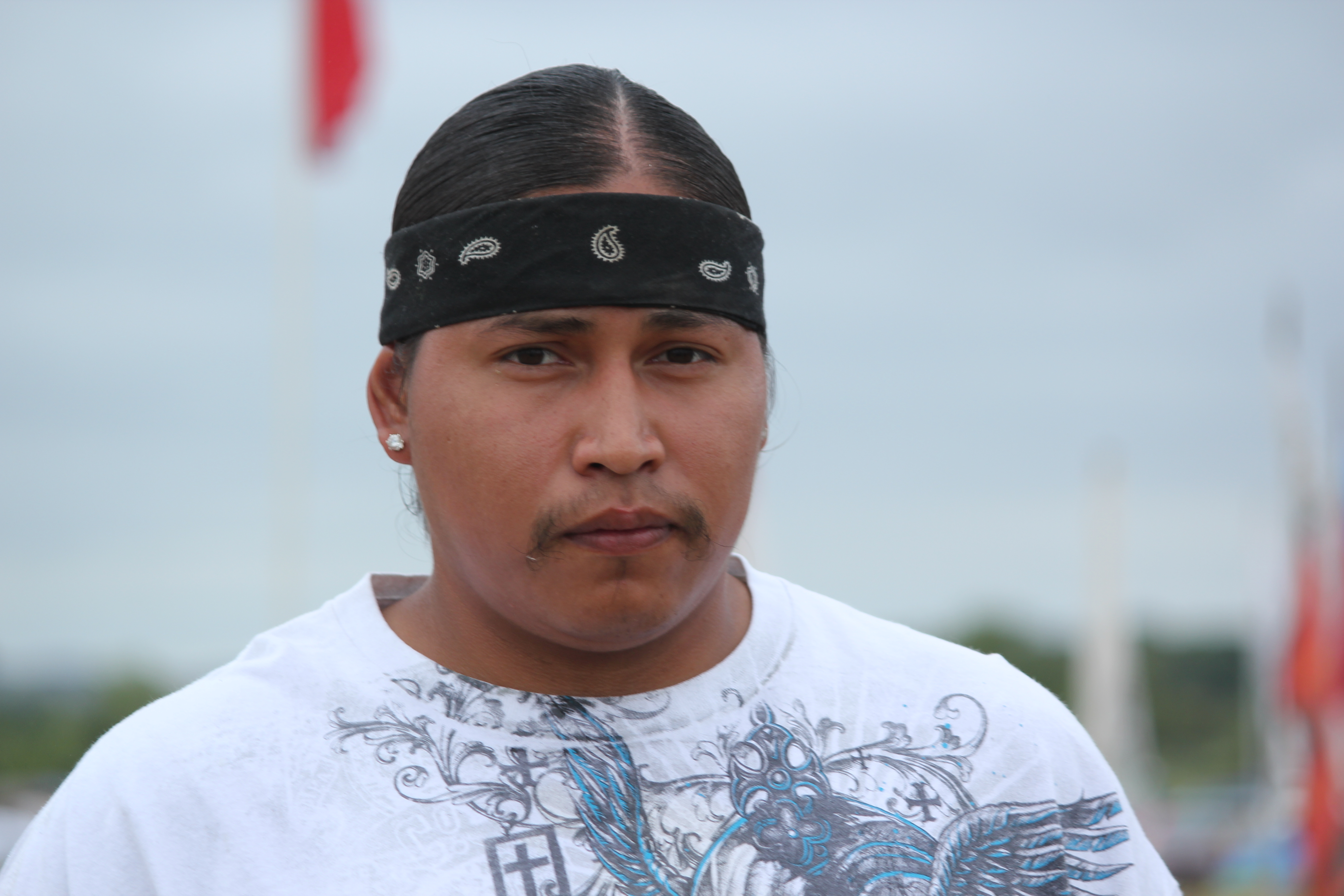 "Theron Iron Cloud, Lakota: ""It's not about physically being present at Standing Rock, it is about being here spiritually supporting the effort."""