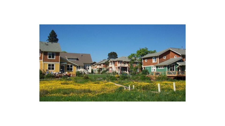 Bellingham Cohousing in Happy Valley features 'Missing Middle' housing options. photo: Bellingham Cohousing