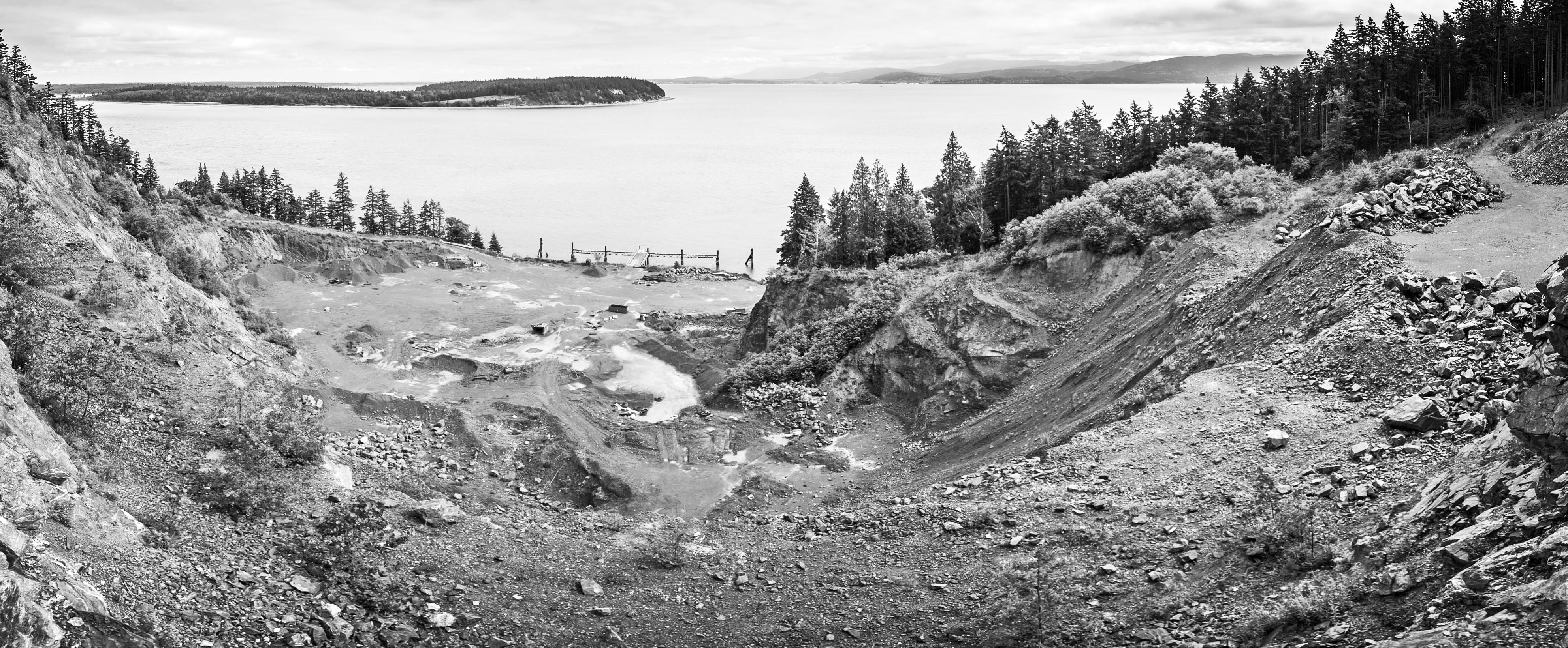 In the future when restoration efforts are complete, visitors will be able to enjoy spectacular views from the upland area of the 105 acre Aiston Preserve looking east toward Portage Island, Bellingham Bay, the Chuckanut Mountains and Mt. Baker. Photo: Ed Lowe