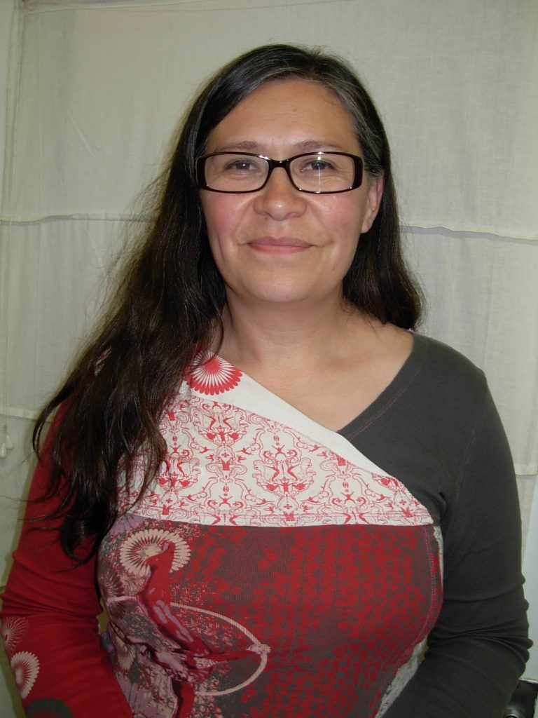 Maru Mora Villalpando at her office. photo: K. Fentress