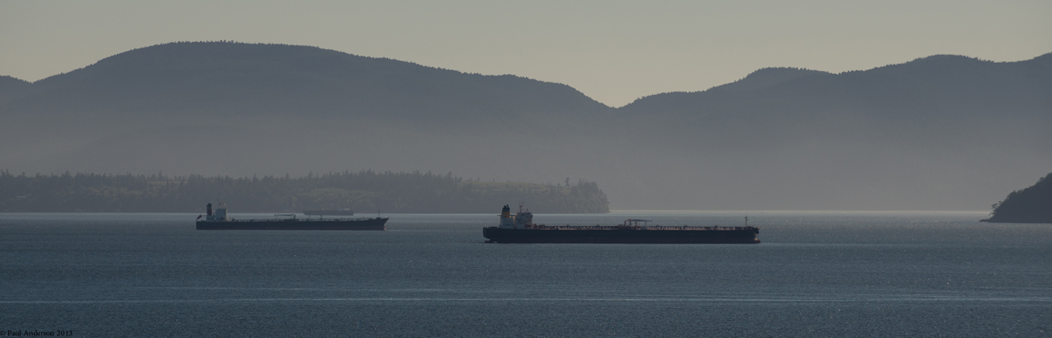 Tandem tankers plying the waters near San Juan Island. photo: Paul K. Anderson