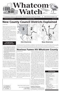 July 2017 Whatcom Watch front page
